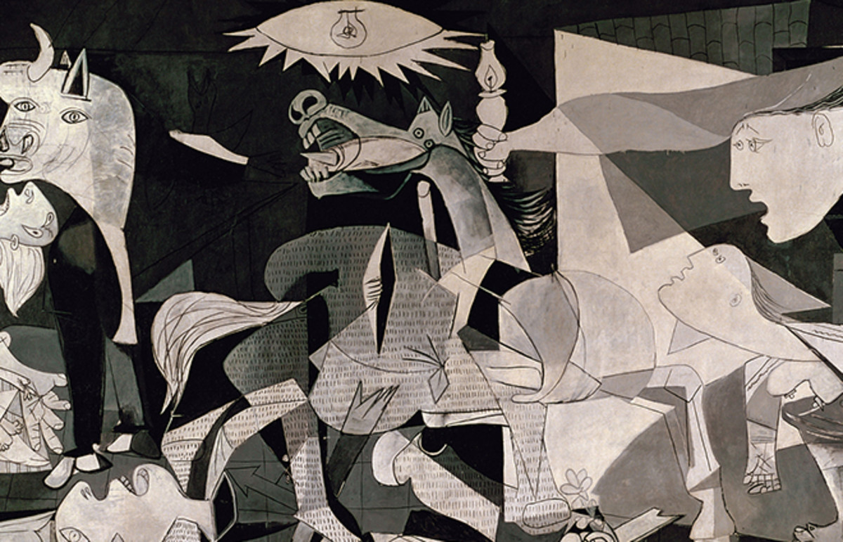 A selection from Guernica. (Painting: Pablo Picasso)