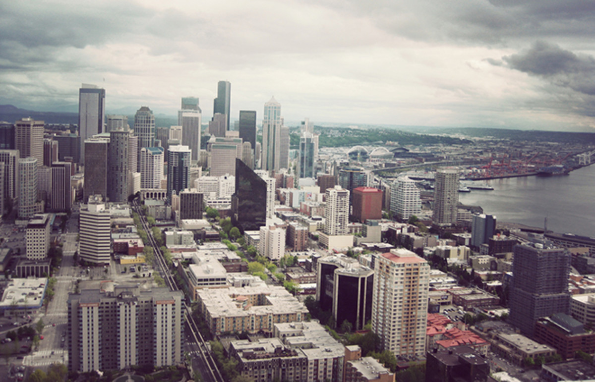 Seattle, as seen from the top of the Space Needle. (Photo: Tanya/Flickr)