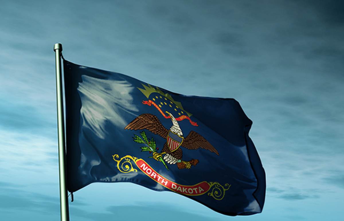 The flag of North Dakota. (Photo: Jiri Flogel/Shutterstock)