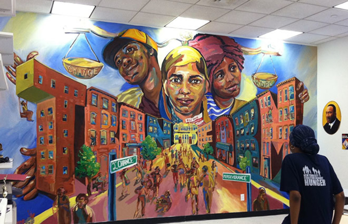 A community mural in the Justice Center's break room. (Photo: Red Hook Community Justice Center)