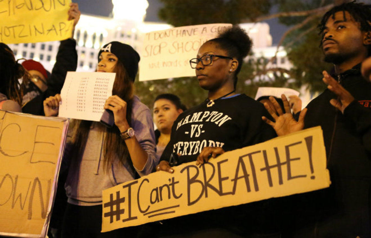 A #BlackLivesMatter protest in Las Vegas. (Photo: snakegirlproductions/Flickr)
