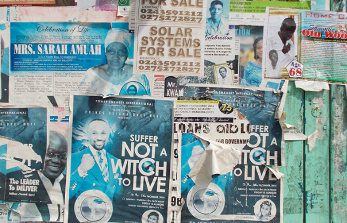 Posters for revivals and religion in Ghana. (Photo: M. Sophia Newman)