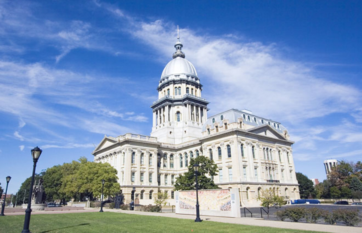 The seat of Illinois government in Springfield. (Photo: Henryk Sadura/Shutterstock)