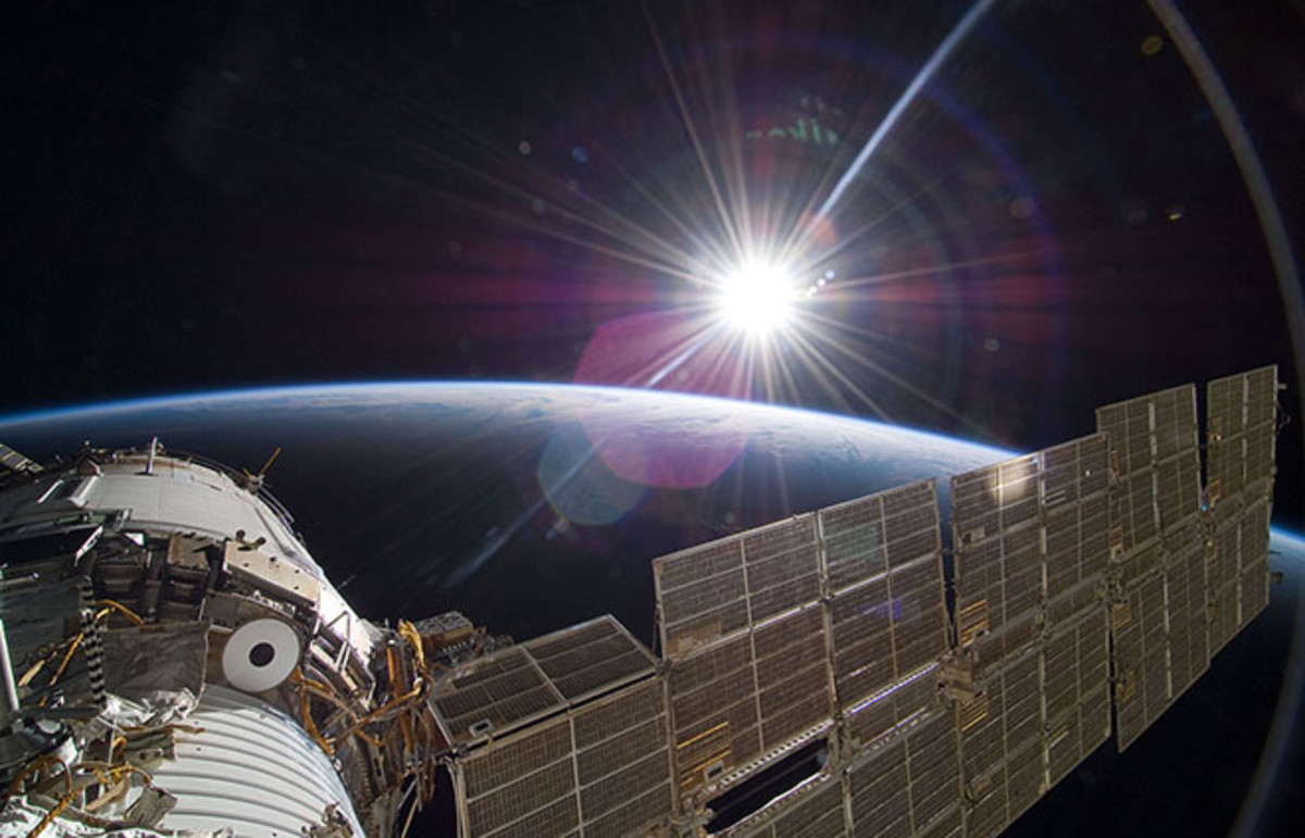 The bright sun greets the International Space Station. (Photo: NASA)
