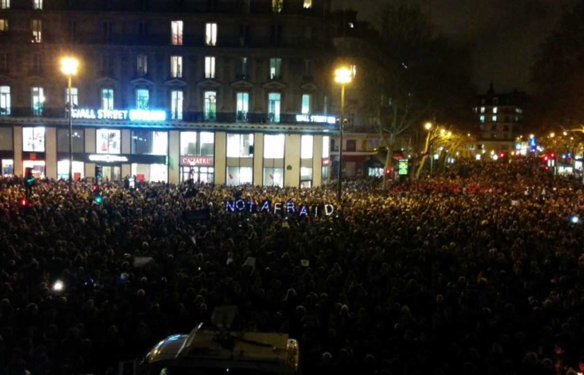 Protesters gather in Paris following the attack on Charlie Hebdo offices. (Photo: Corentin Béchade/Wikimedia Commons)