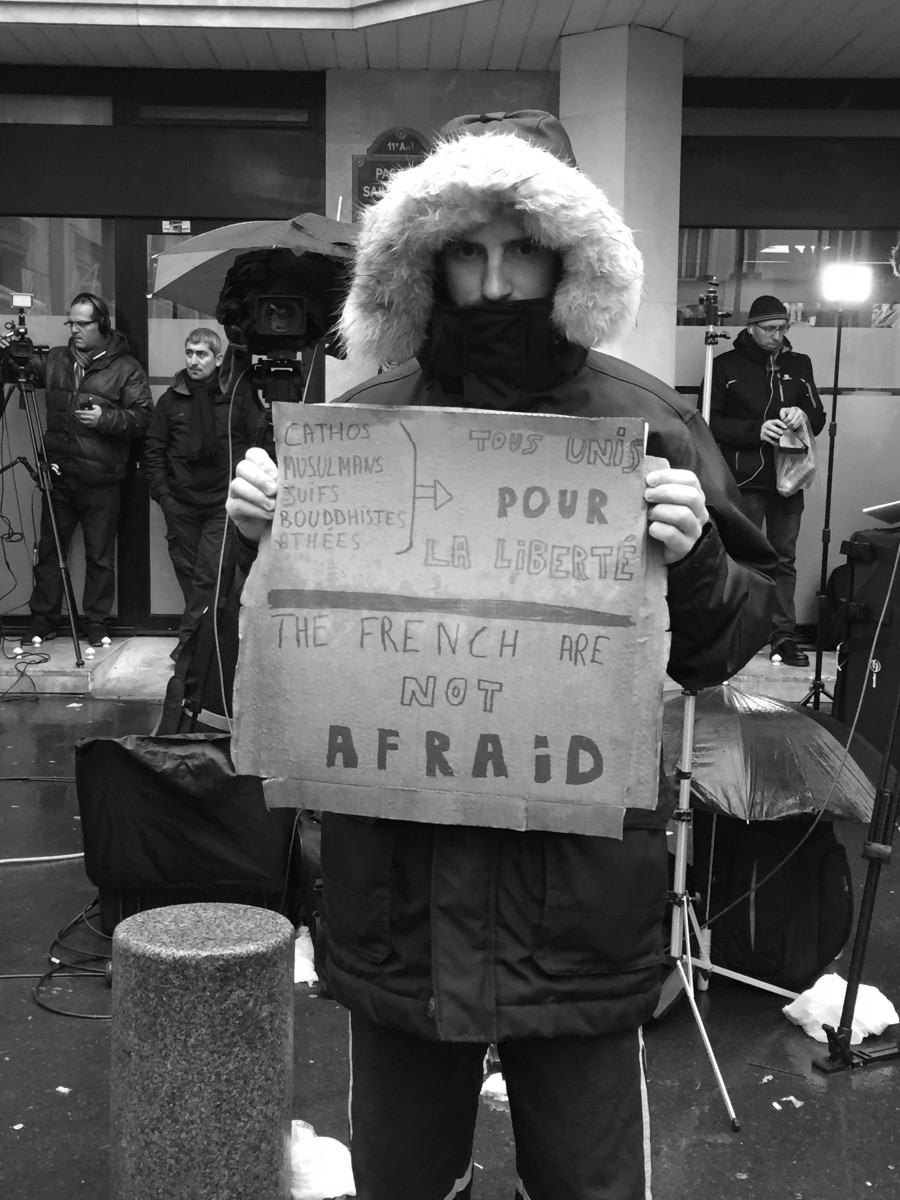 A French protestor. (Photo: Ross Ufberg)