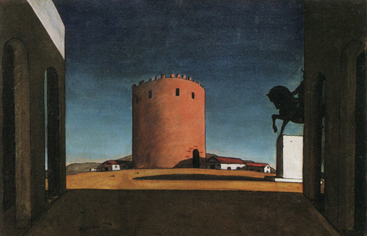 Giorgio de Chirico's 'The Red Tower,' 1913. (Photo: Public Domain)