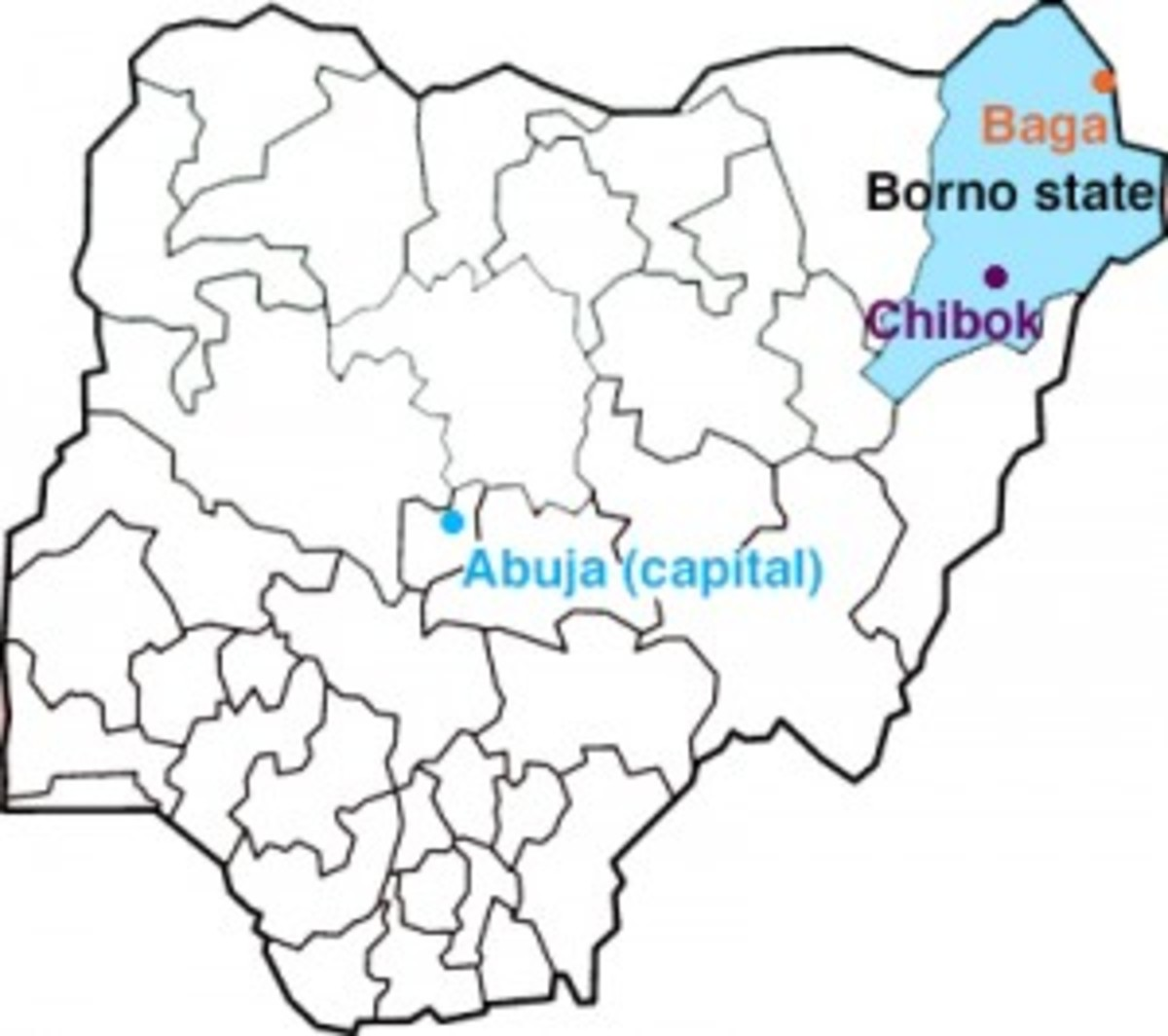 Boko Haram's violence is concentrated in Nigeria's northeast Borno state. (Photo: Pacific Standard/Wikimedia Commons)