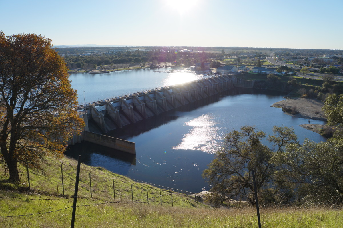 The Nimbus Dam in Sacramento County, California. (Photo: The Oaked Ridge)