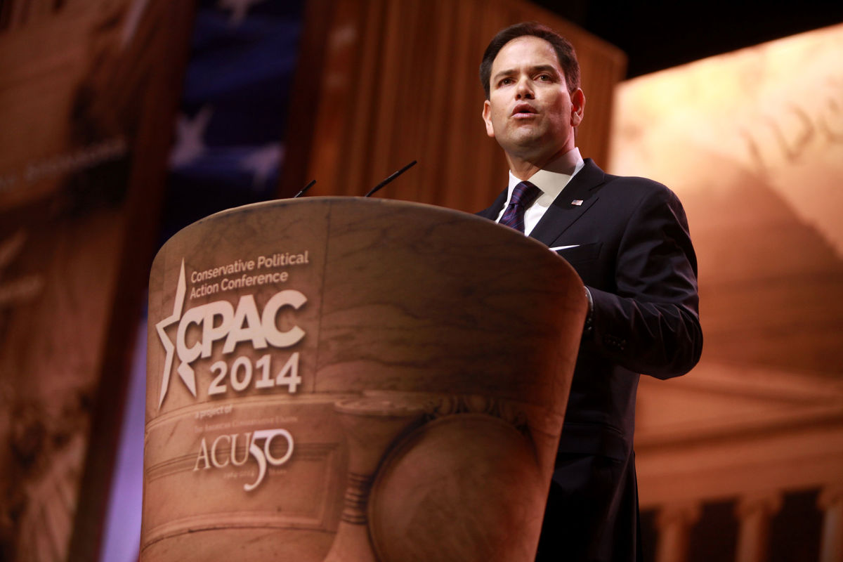 Senator Marco Rubio speaking at the 2014 Conservative Political Action Conference in National Harbor, Maryland. (Photo: Gage Skidmore/Wikimedia Commons)