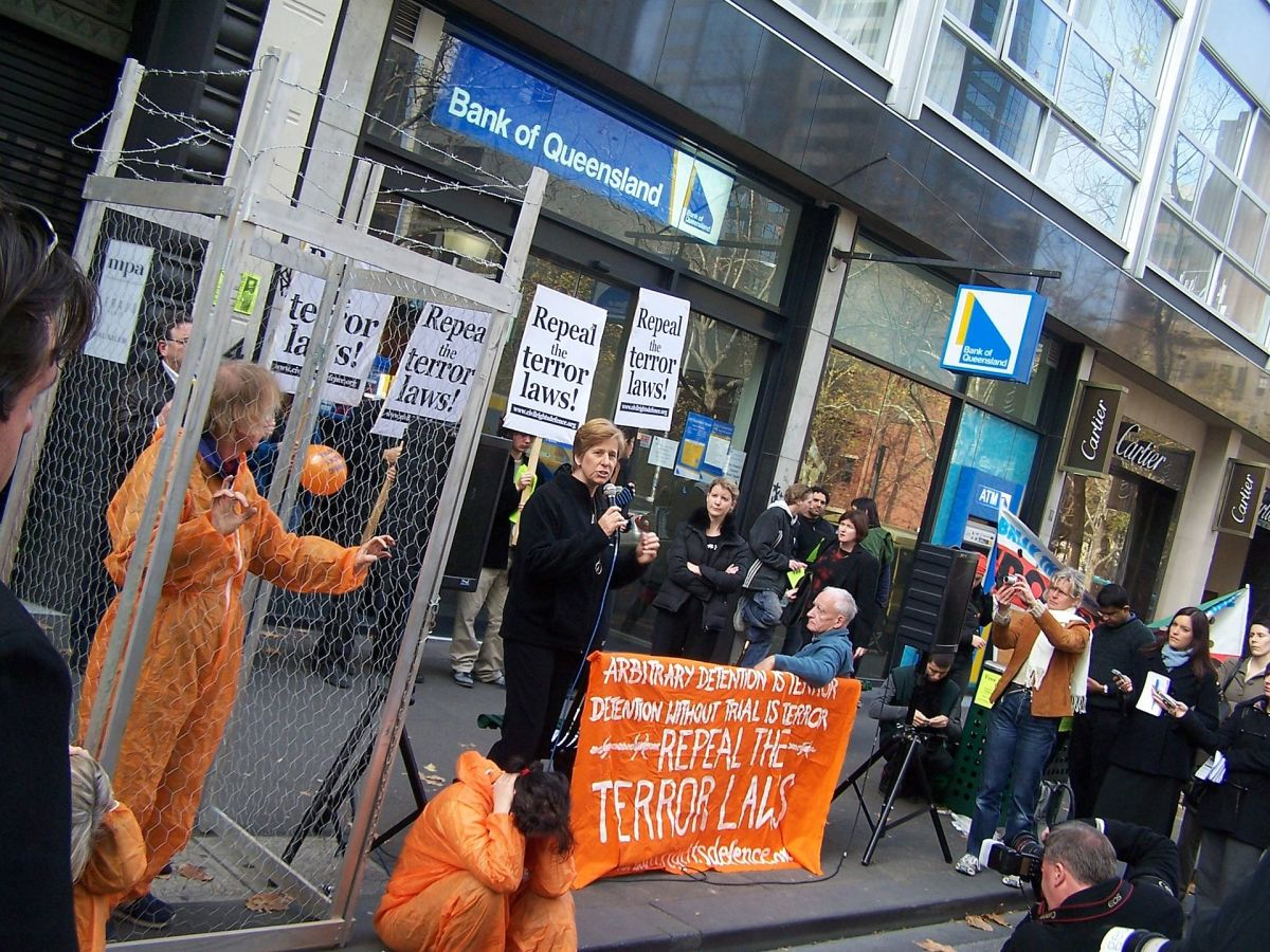 Demonstration calling for the release of David Hicks. (Photo: Whywhywhy/Wikimedia Commons)