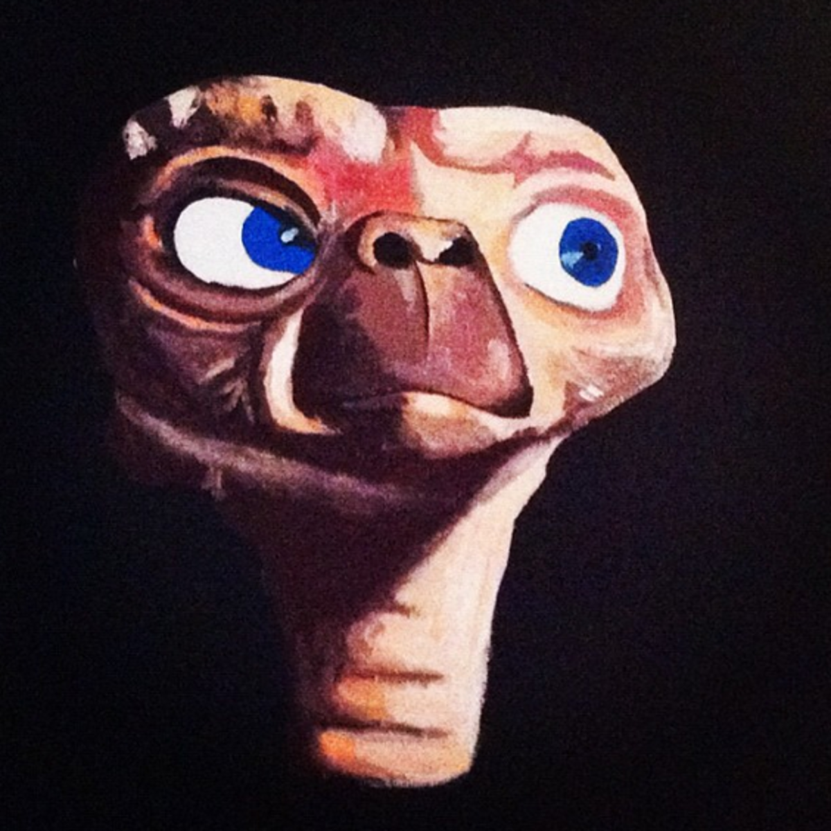 The E.T. portrait, which now hangs in the author's home. (Photo: Alana Levinson)