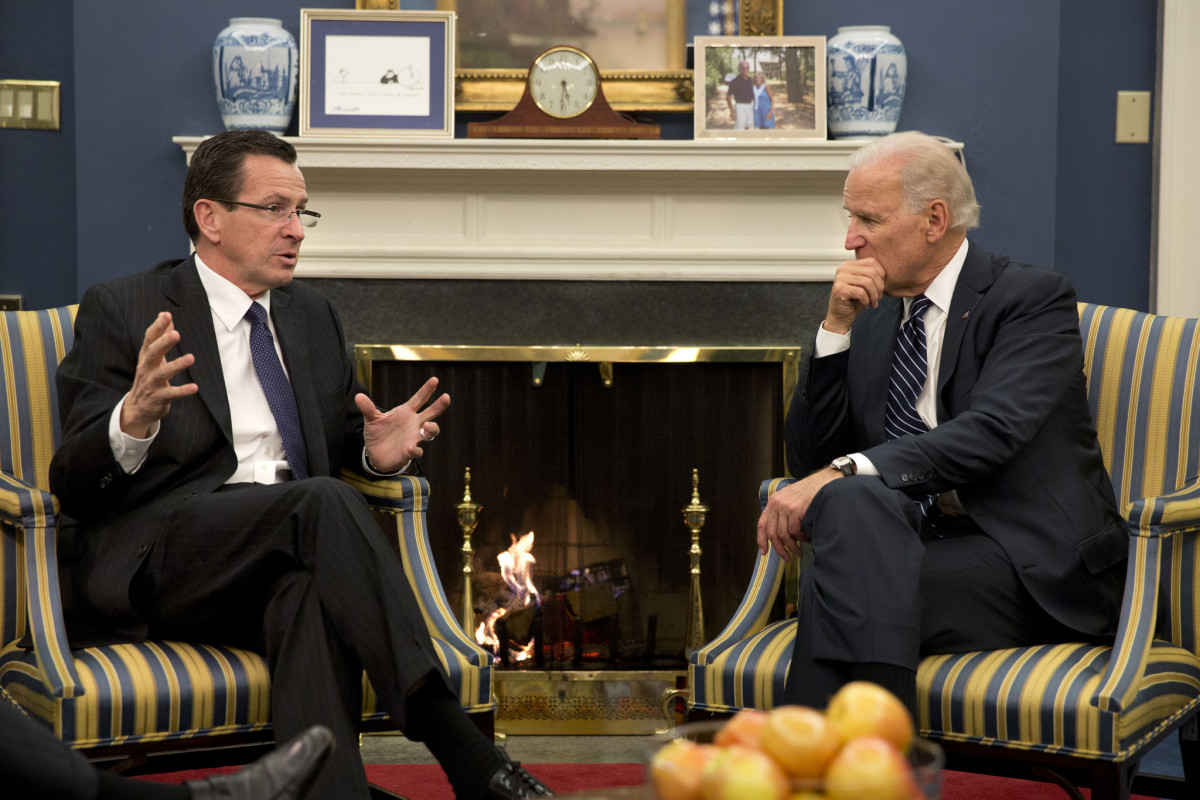Connecticut Governor Dan Malloy meeting with Vice President Joe Biden in 2013. (Photo: Dannel Malloy/Flickr)