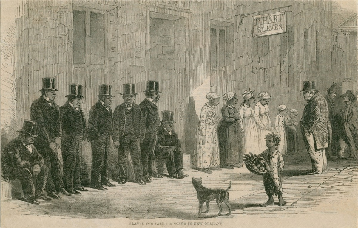 Slaves for Sale in New Orleans, Louisiana, in April 1861. (Photo: Everett Historical/Shutterstock)