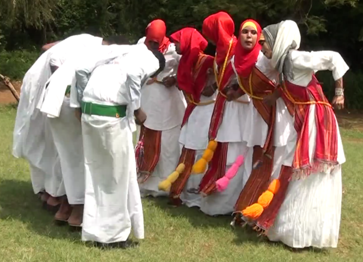 Somali women and men performing the traditional Dhaanto dance-song in Jubaland. (Photo: Middayexpress/Wikimedia Commons)