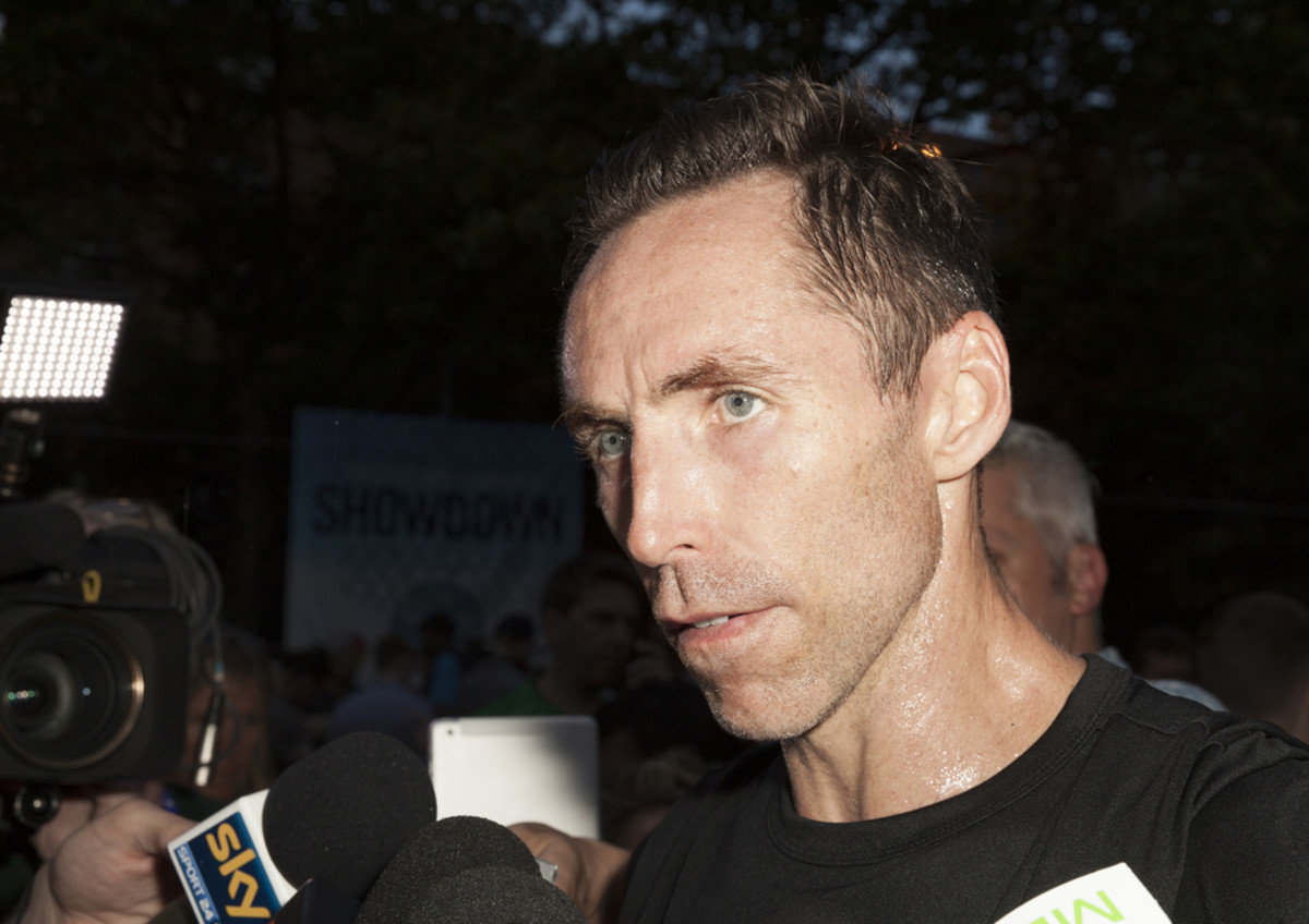 Steve Nash giving an interview in June 2014. (Photo: lev radin/Shutterstock)
