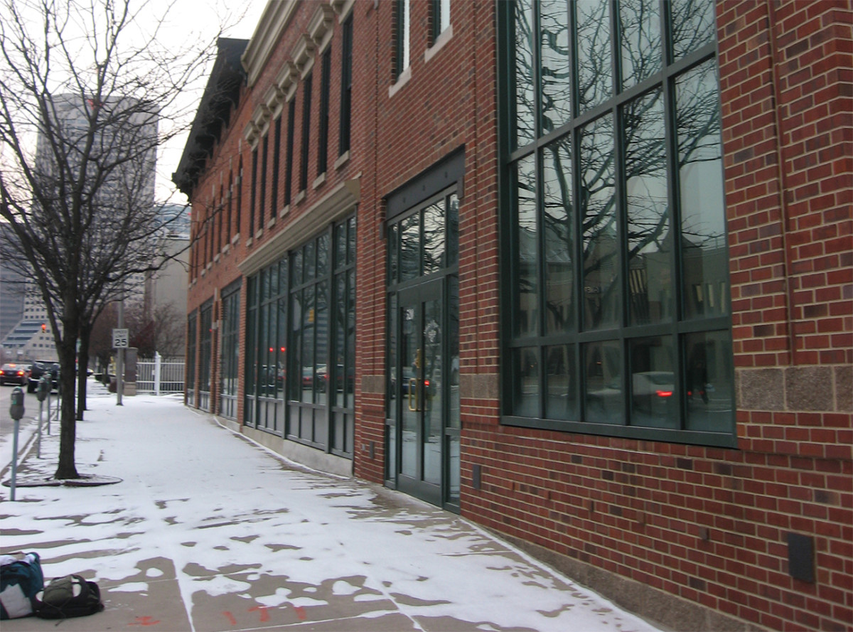 New buildings in Indianapolis' Indiana Avenue Historic District. (Photo: Public Domain)