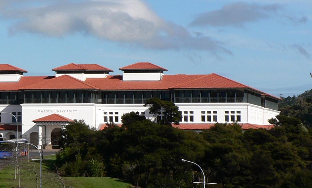 Part of Massey University's Albany, New Zealand, campus. (Photo: Nzv8fan/Wikimedia Commons)