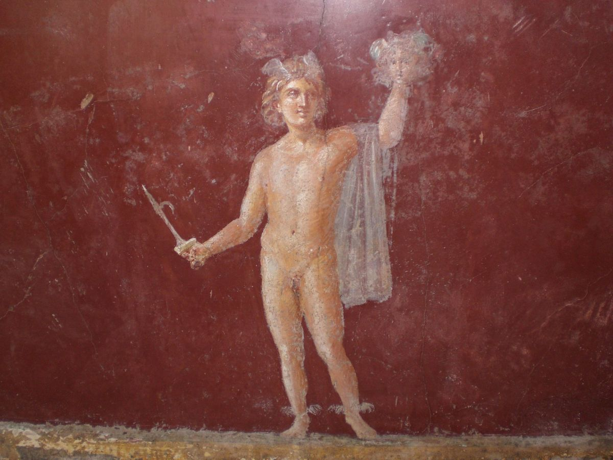 Perseus and the head of Medusa in a Roman fresco at Stabiae. (Photo: Luiclemens/Wikimedia Commons)