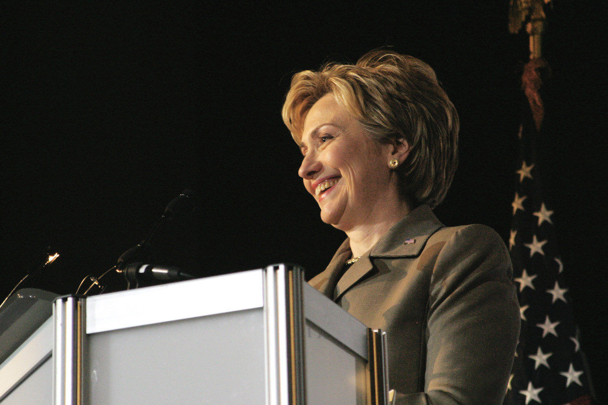 Hillary Clinton giving a keynote address at the Human Rights Campaign Annual Dinner in 2004. (Photo: Everett Collection/Shutterstock)