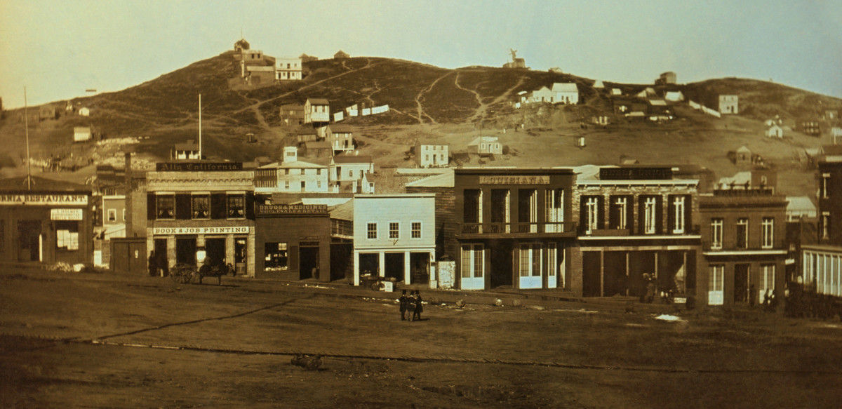 Portsmouth Square, San Francisco, during the Gold Rush, 1851. (Photo: Public Domain/Wikimedia Commons)