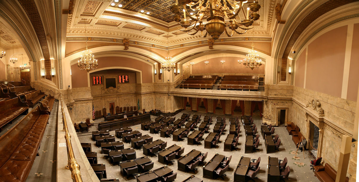 The House of Representatives chamber in Washington state's legislative building. (Photo: Cacophony/Wikimedia Commons)