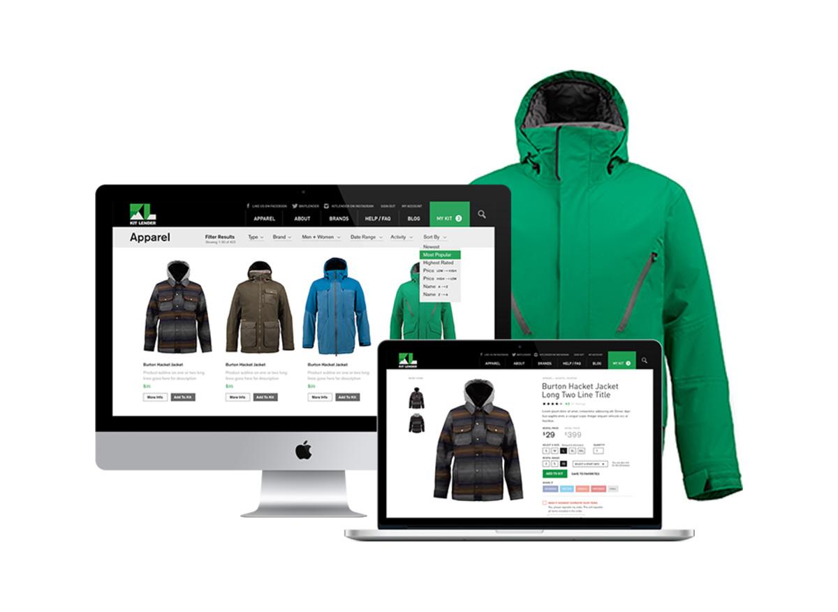 Kit Lender's online shop. (Photo: Courtesy of Forrest Shinners)