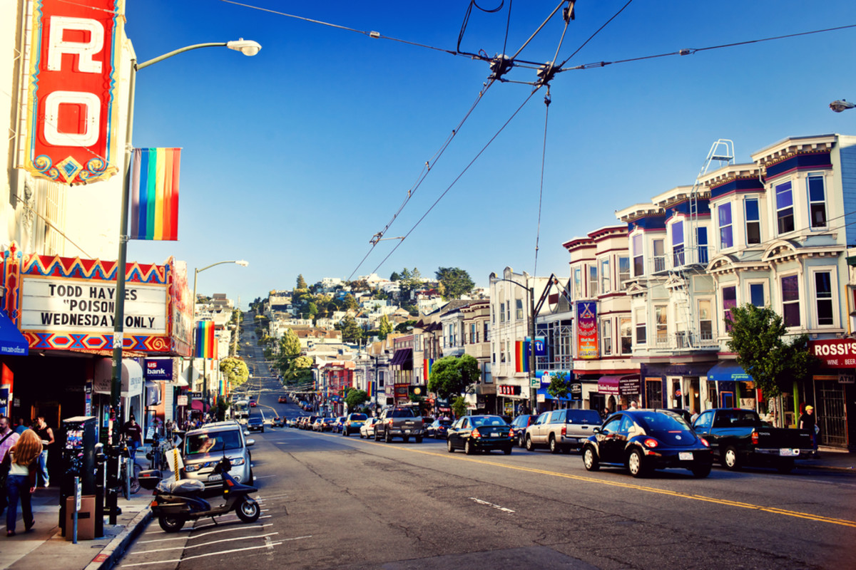 San Francisco's Castro district is one of  the United States' first and best-known gay neighborhoods, and it is  currently its largest. (Photo: Andrey Bayda/Shutterstock)