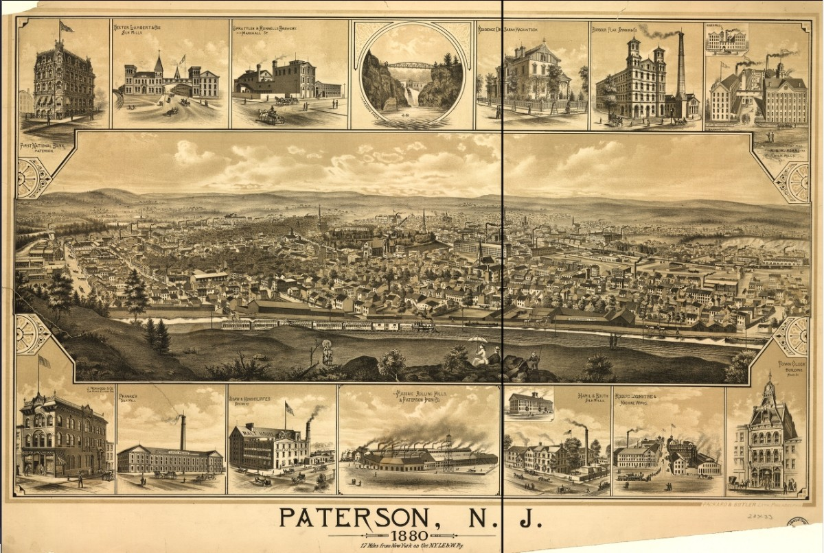 Illustrations of Paterson in 1880, in its peak industrial era. (Photo: Public Domain)