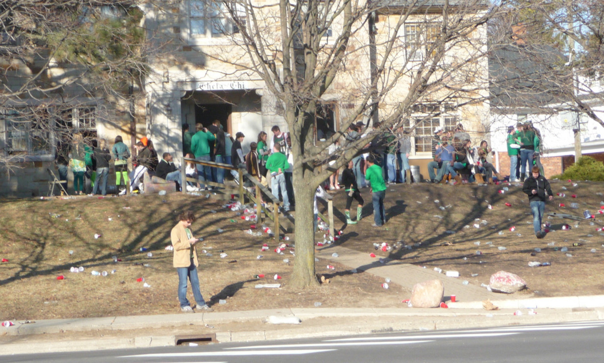 St. Patrick's Day festivities at a University of Michigan fraternity. (Photo: Rex Roof/Flickr)