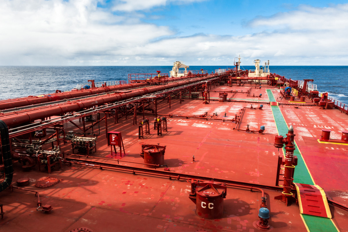 The deck of an oil tanker. (Photo: Anatoly Menzhiliy/Shutterstock)