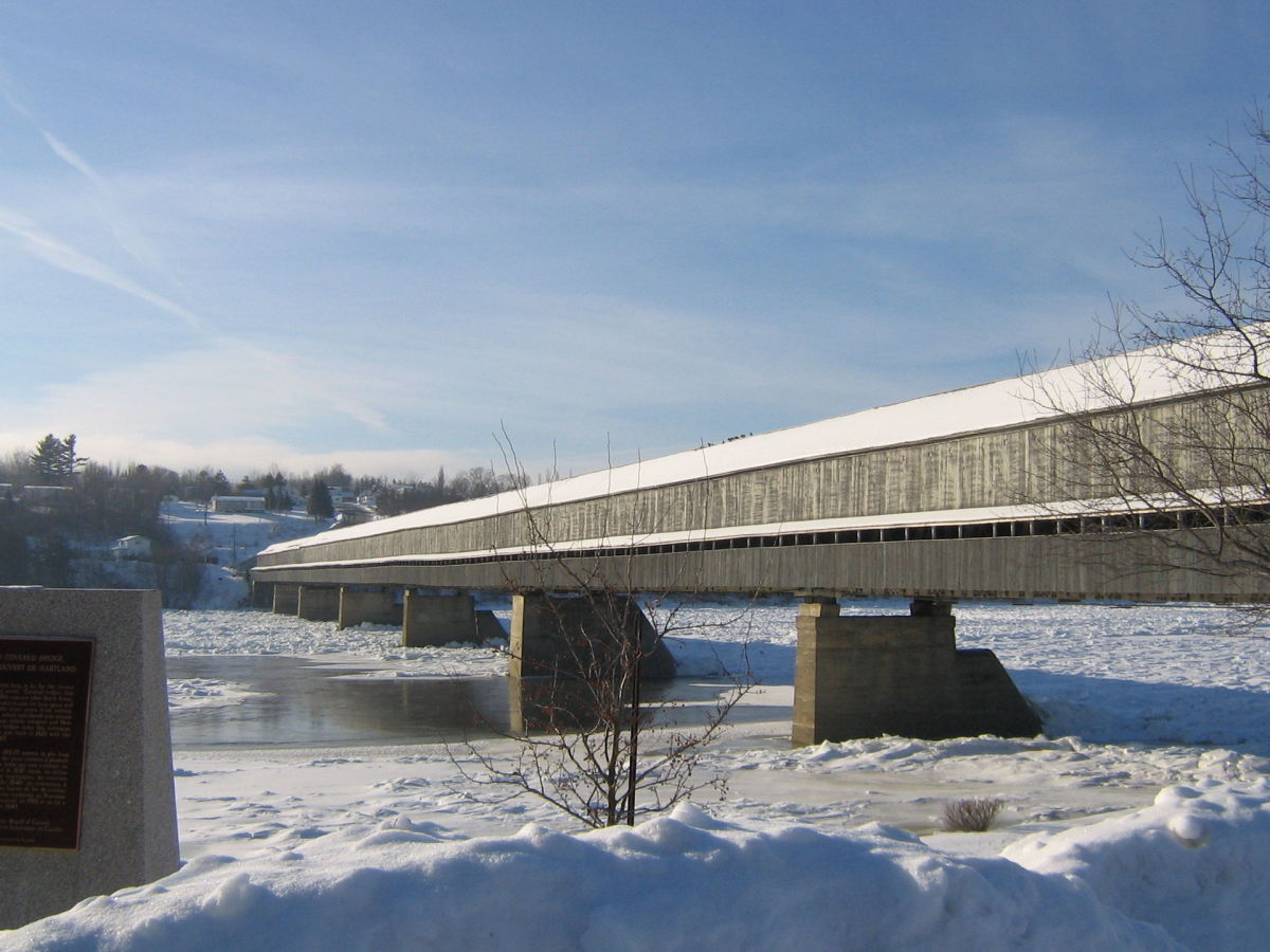 The longest covered bridge in the world, in Hartland, New Brunswick. (Photo: Scott Davis/Wikimedia Commons)