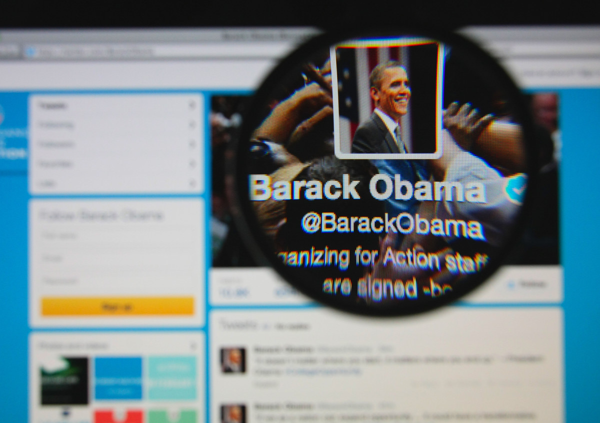 Barack Obama's official Twitter page. (Photo: Gil C/Shutterstock)