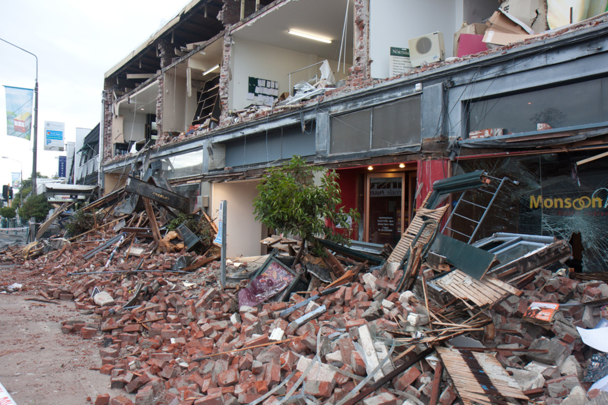 Destruction caused by a 2011 earthquake in Christchurch, New Zealand. (Photo: Darrenp/Shutterstock)