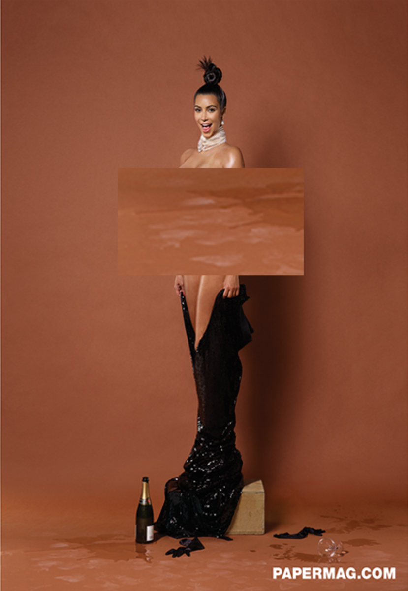 Kim Kardashian. (Photo: Paper magazine)