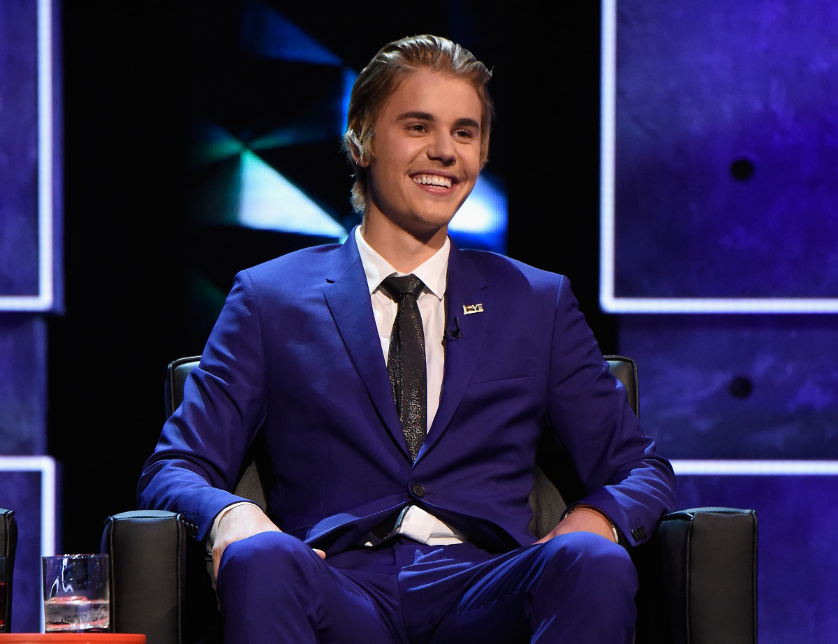 Justin Bieber at his Comedy Central roast. (Photo: Kevin Mazur/Getty Images)