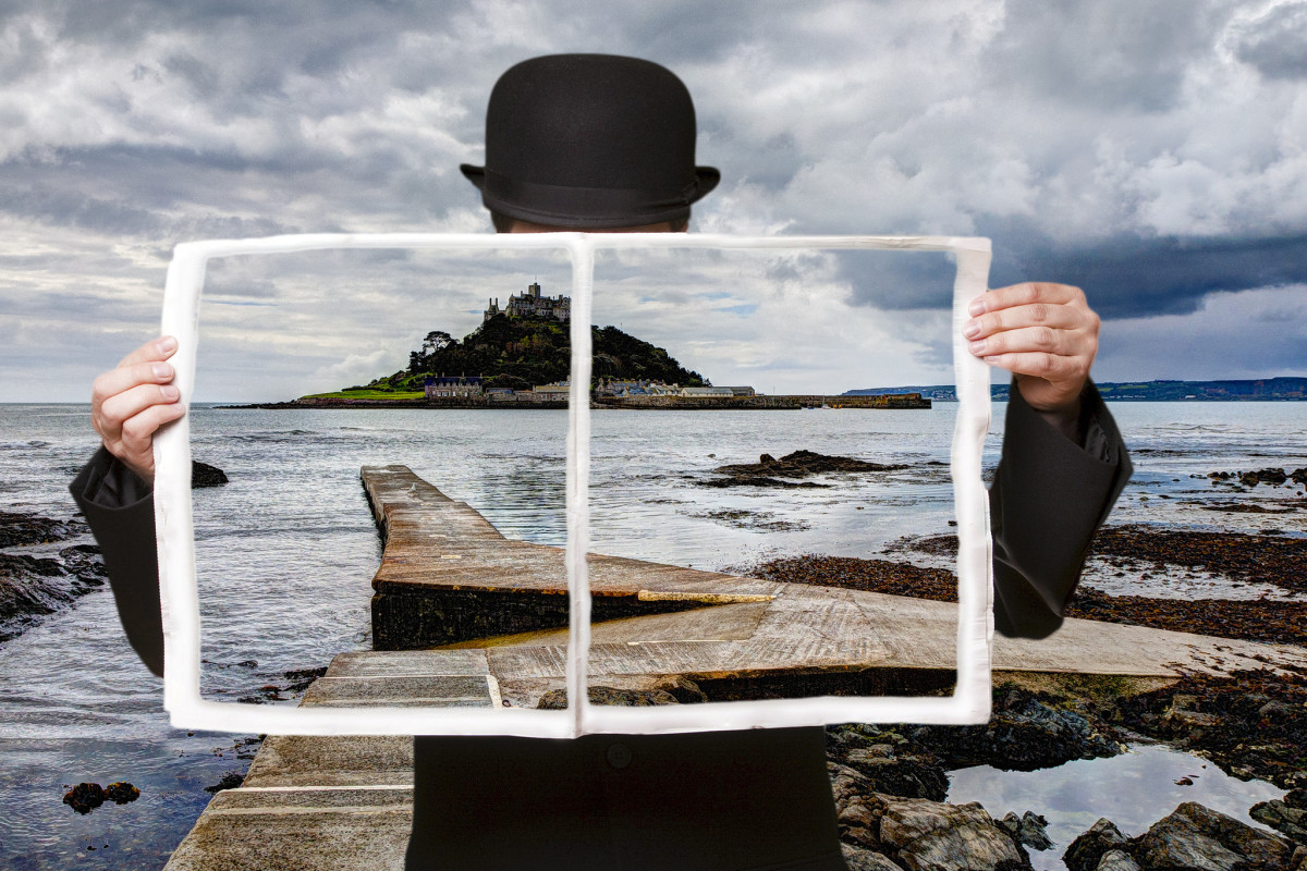 Composite image in the style of René Magritte. (Photo: George Thomas/Flickr)