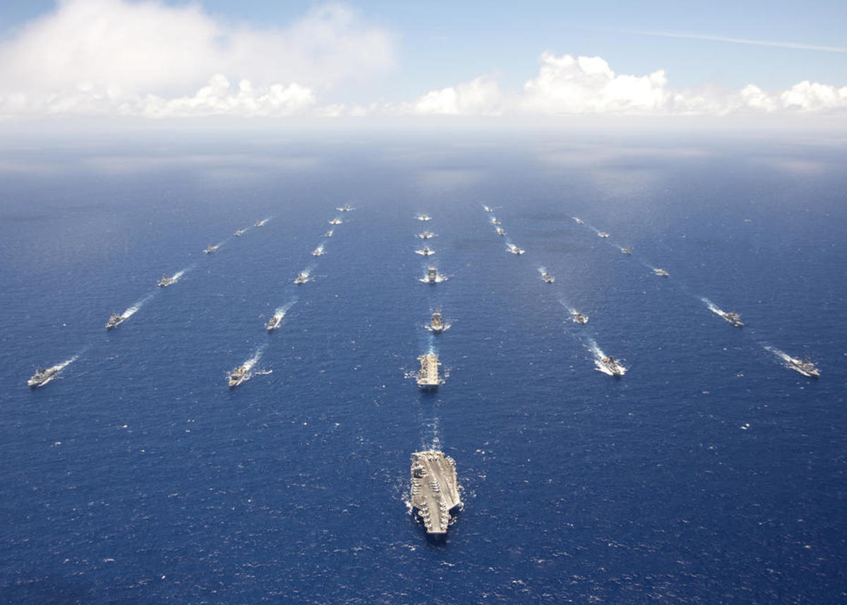Ships and submarines participating in the 2012 RIMPAC exercise. (Photo: U.S. Navy)
