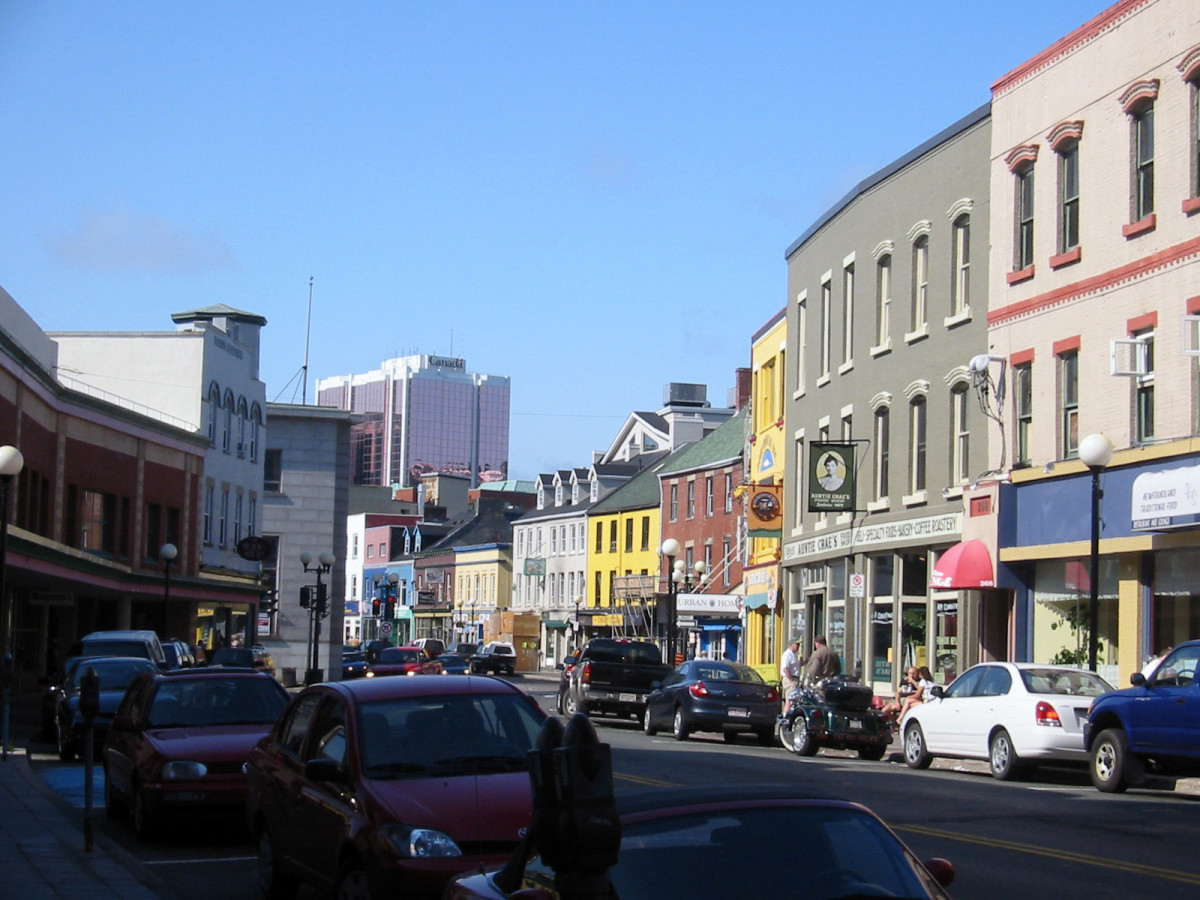 Water Street, St. John's, Newfoundland. (Photo: Jcmurphy/Wikimedia Commons)