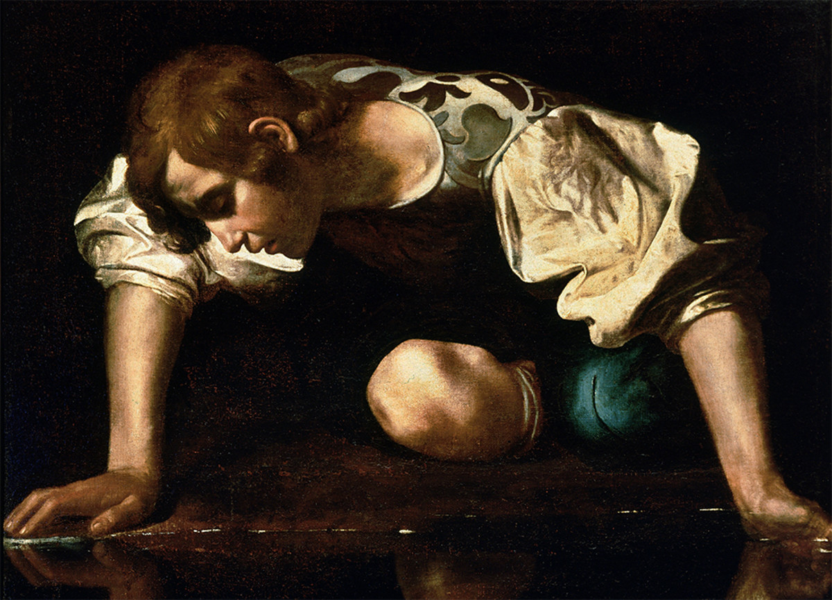 Caravaggio's Narcissus, in the Galleria Nazionale d'Arte Antica, Rome. (Photo: Public Domain)