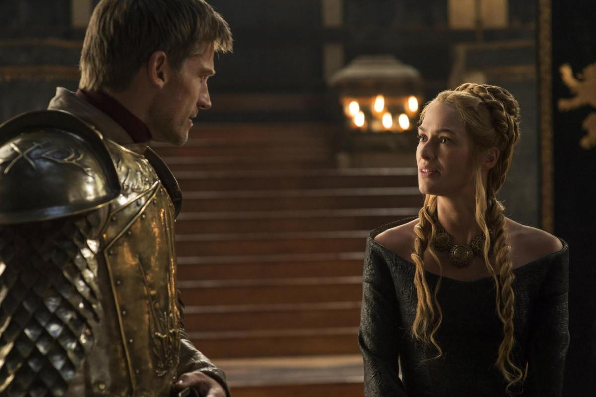 Nikolaj Coster-Waldau as Jaime Lannister and Lena Headey as Cersei Lannister. (Photo Helen Sloan/HBO)