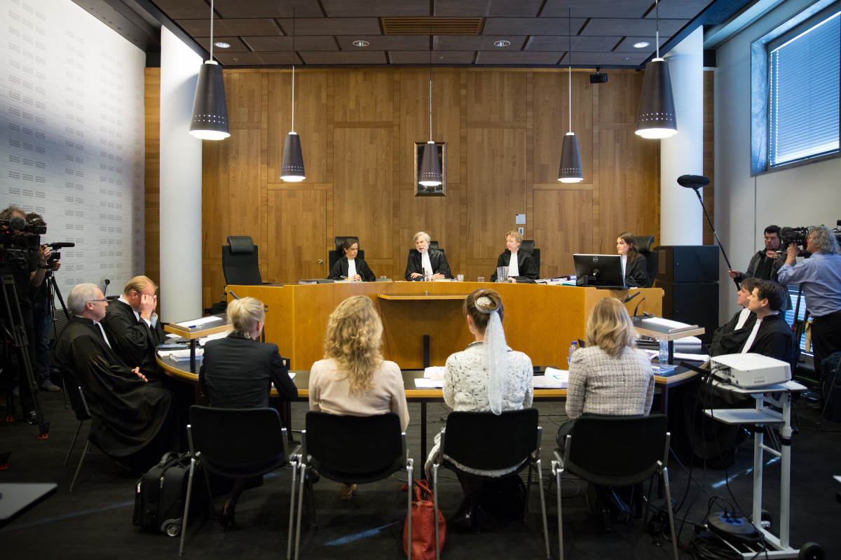Urgenda's case went before a district court at The Hague today. The hearings cap two and half years of legal proceedings, but a final decision could still take up to six months. (Photo: Chantal Bekker/Urgenda)
