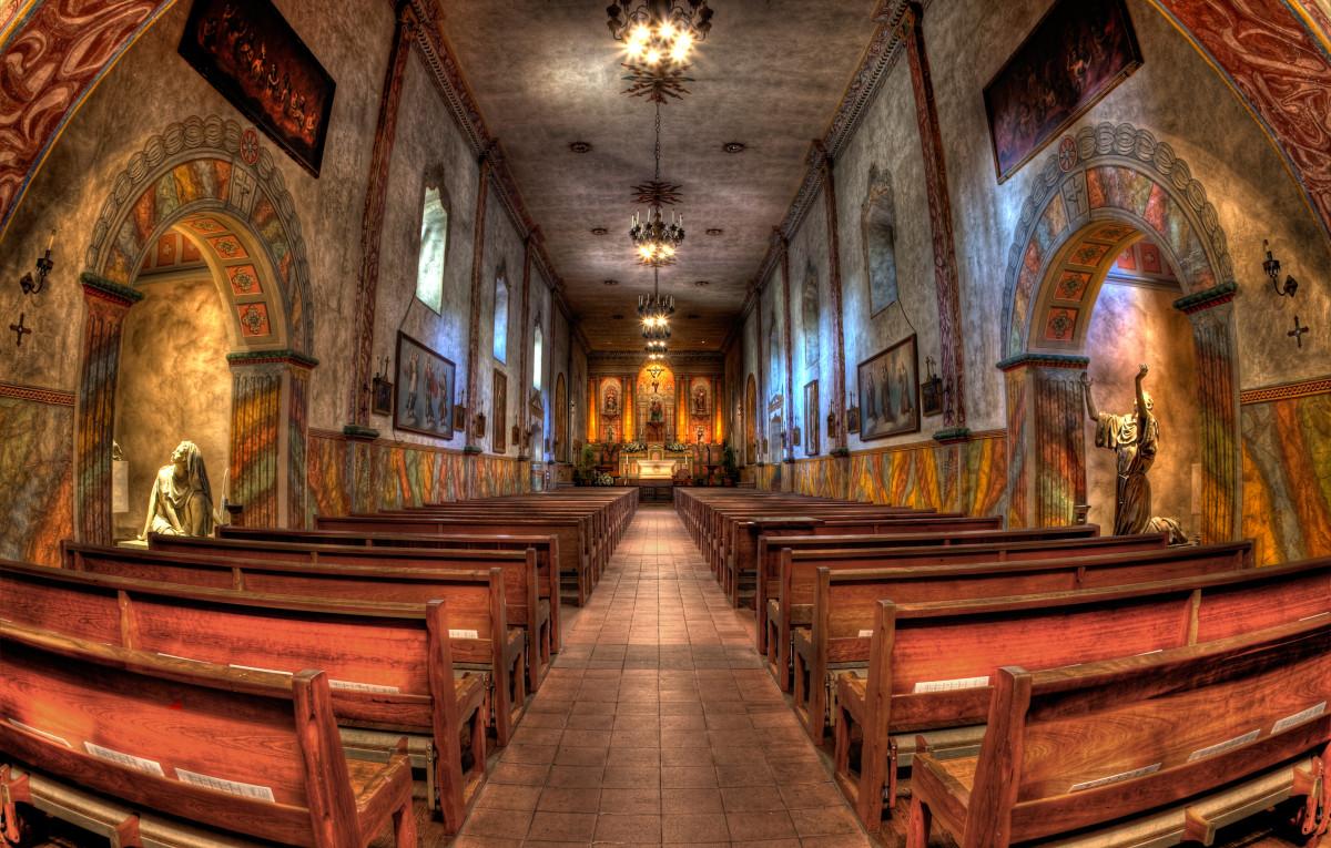 Mission Santa Barbara in Santa Barbara, California. (Photo: Kevin Cole/Flickr)