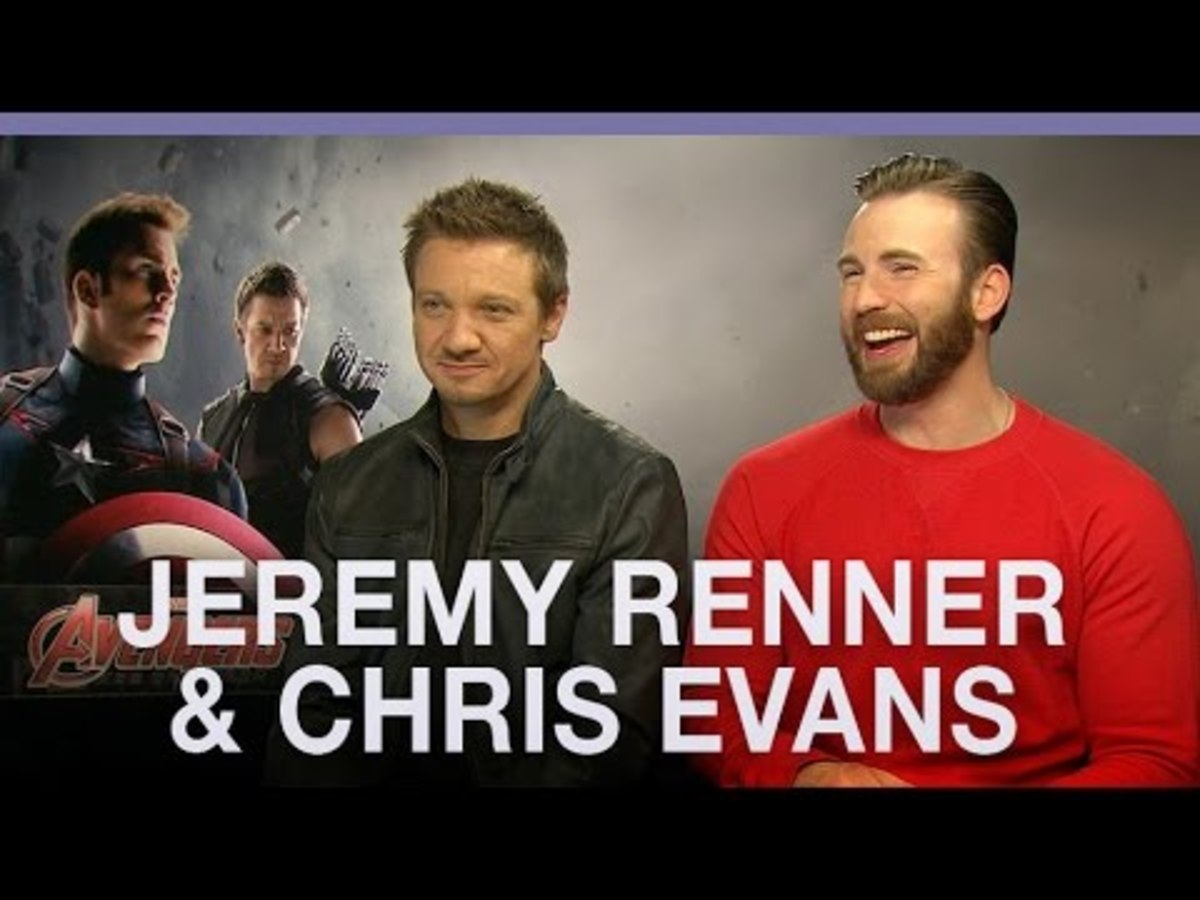 From left: Jeremy Renner and Chris Evans, during their promotional—and now controversial—interview. (Photo: Digital Spy/YouTube)