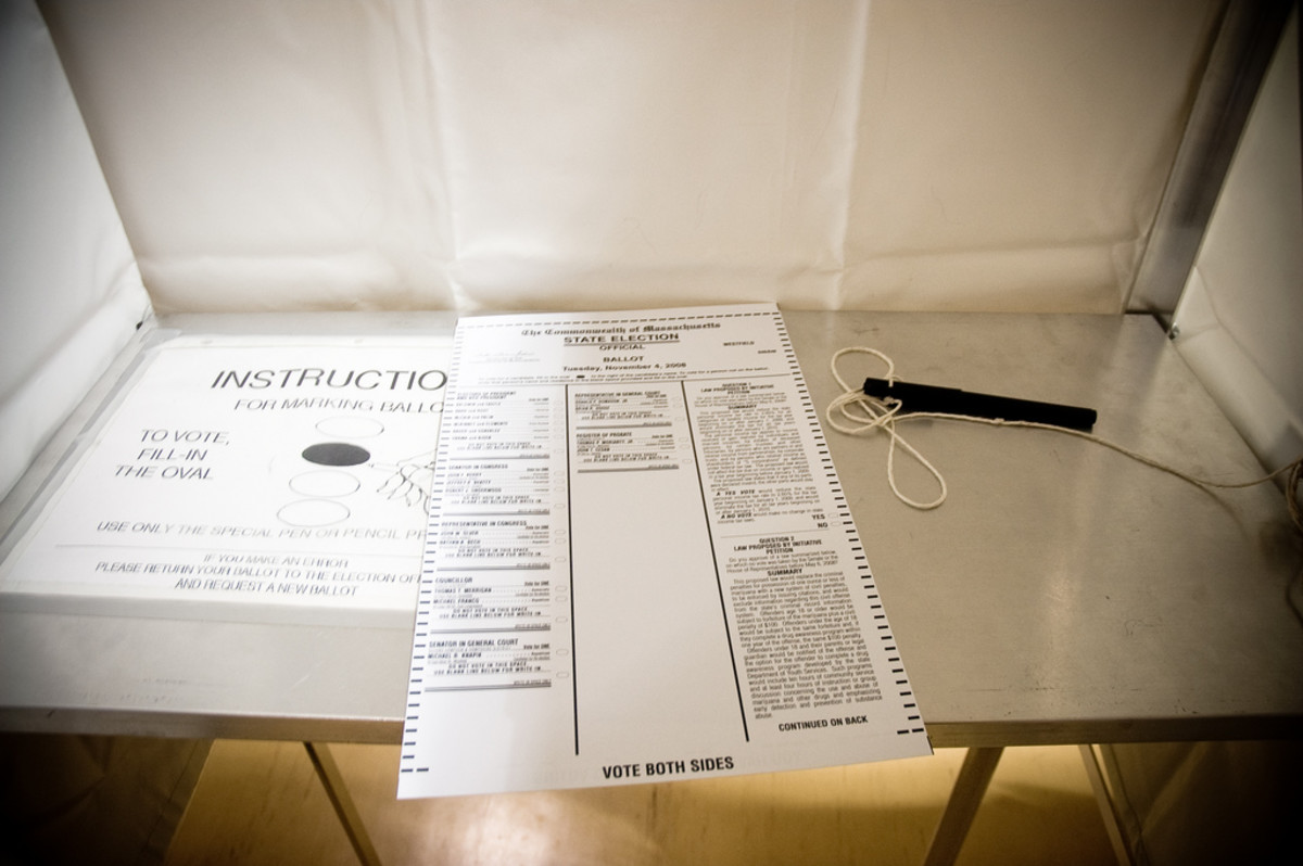 A voting ballot photographed as part of the Polling Place Photo Project, a nationwide experiment in citizen  journalism that encouraged voters to capture, post, and share images  of primaries, caucuses, and elections. (Photo: Heather Katsoulis/Flickr)
