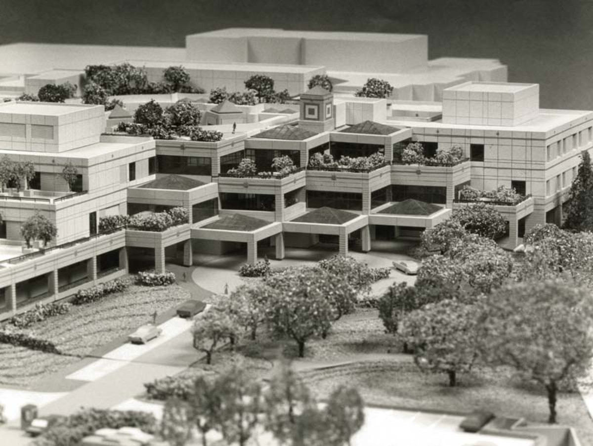 Lucile Packard Children's Hospital architectural model. (Photo: Stanford Medical History Center/Flickr)