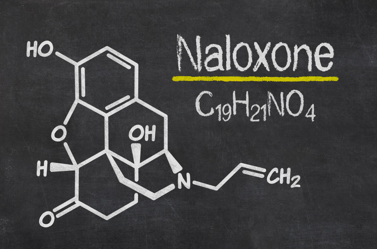 The chemical formula of naloxone. (Photo: Zerbor/Shutterstock)
