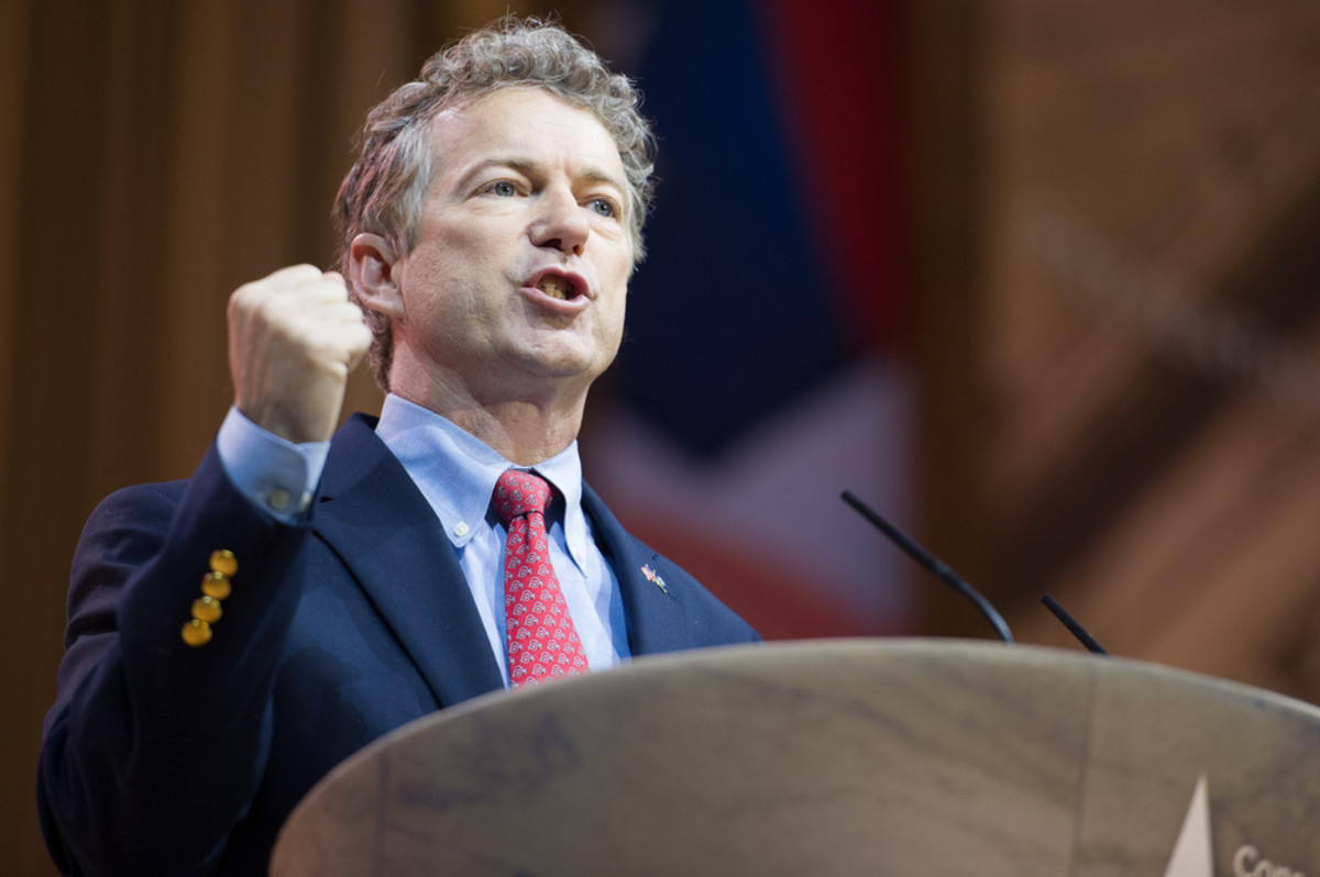 Senator Rand Paul (R-Kentucky) speaks at the Conservative Political Action Conference in National Harbor, Maryland. (Photo: Christopher Halloran/Shutterstock)