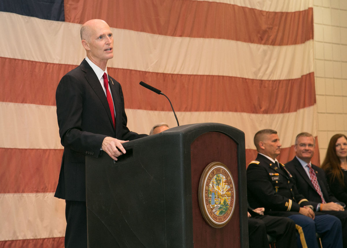 Florida Governor Rick Scott gives a speech in July 2014. (Photo: Public Domain)