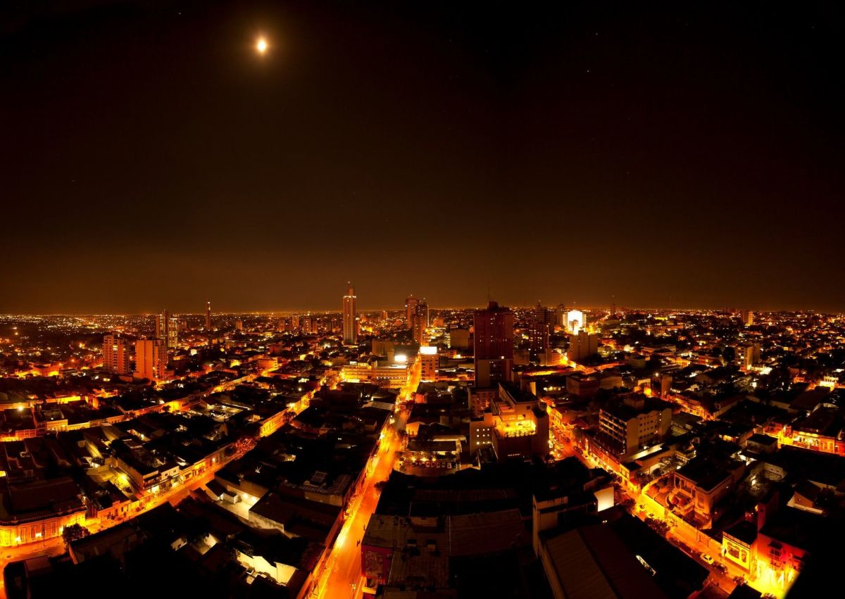 Asunción at night. (Photo: Juan Augusto Sosa Ocampos/Flickr)
